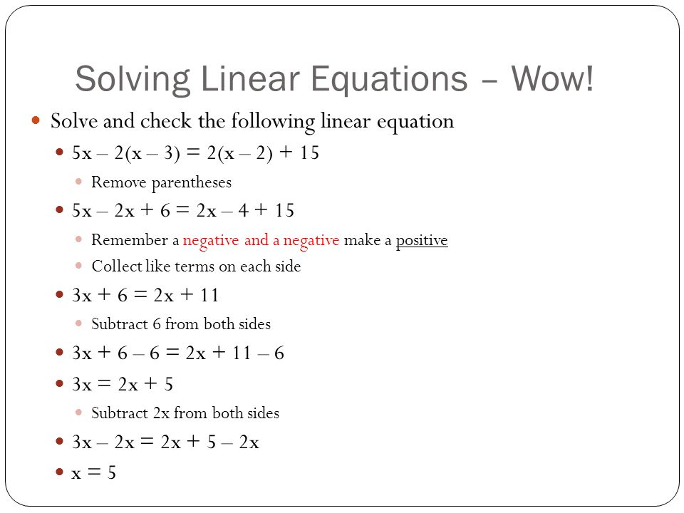 By Drawing The Line Y Solve The Equations : Linear equations and inequalities ppt video