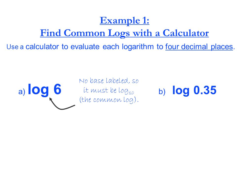 how to find log using calculator