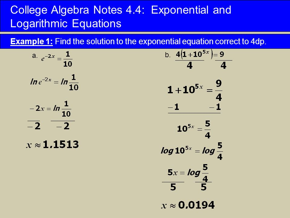 College Algebra Notes 4.3: Laws of Logarithms - ppt download