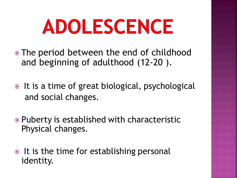 the physical characteristics and developmental profile of adolescents The children and youth physical self-perception profile and a weekly status on physical self-esteem of adolescents has been characteristics of.