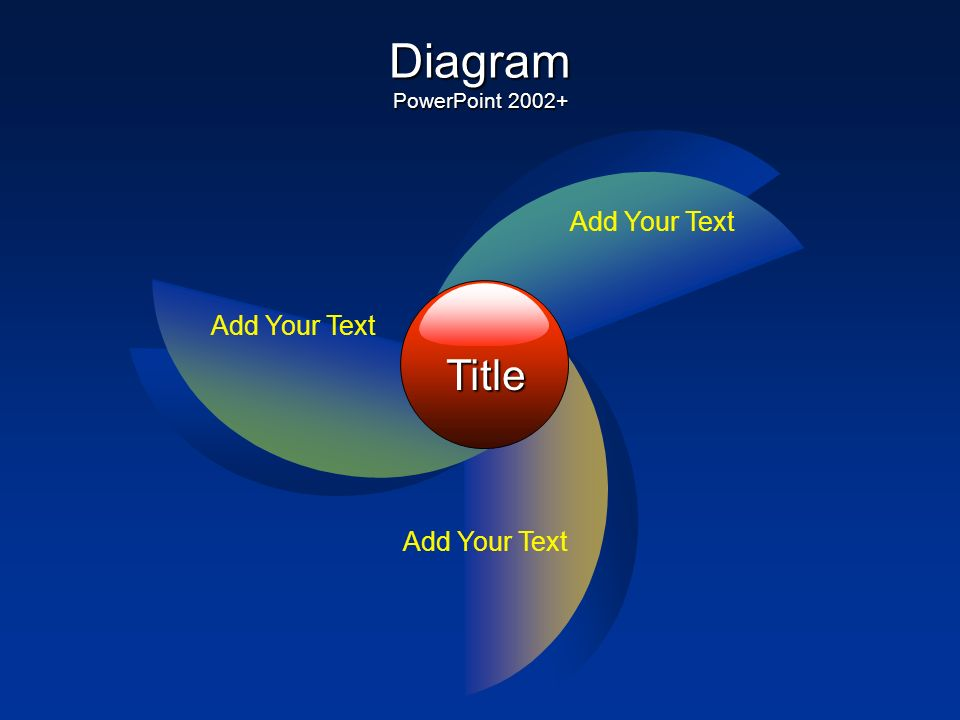 Diagram PowerPoint 2002+ Title Add Your Text Add Your Text