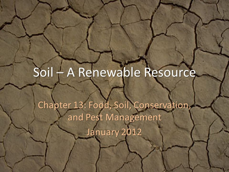 conservation of renewable resources pdf
