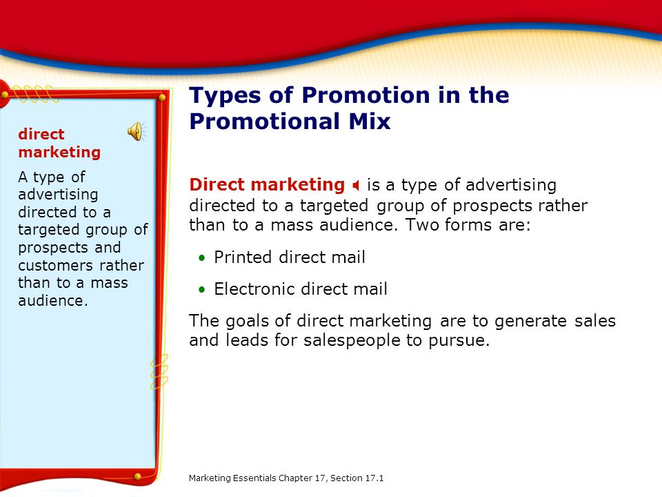 categories of a promotional mix An introduction to market segmentation in consumer and industrial markets marketing  segmentation market segmentation  mass marketing refers to treatment of the market as a homogenous group and offering the same marketing mix to all customers.