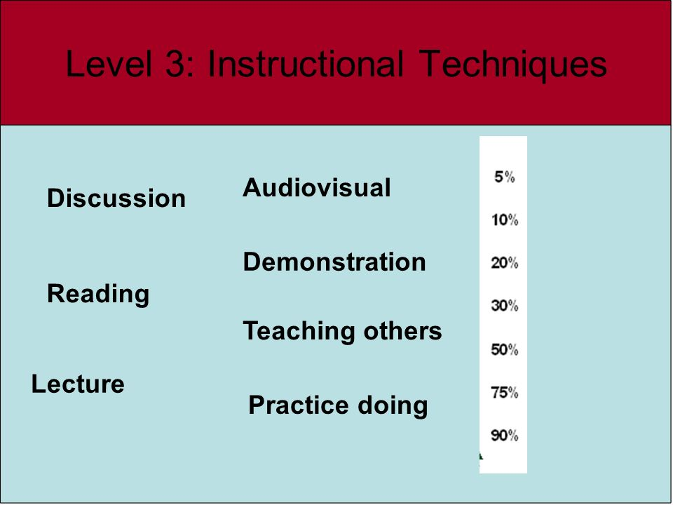 Level 3: Instructional Techniques