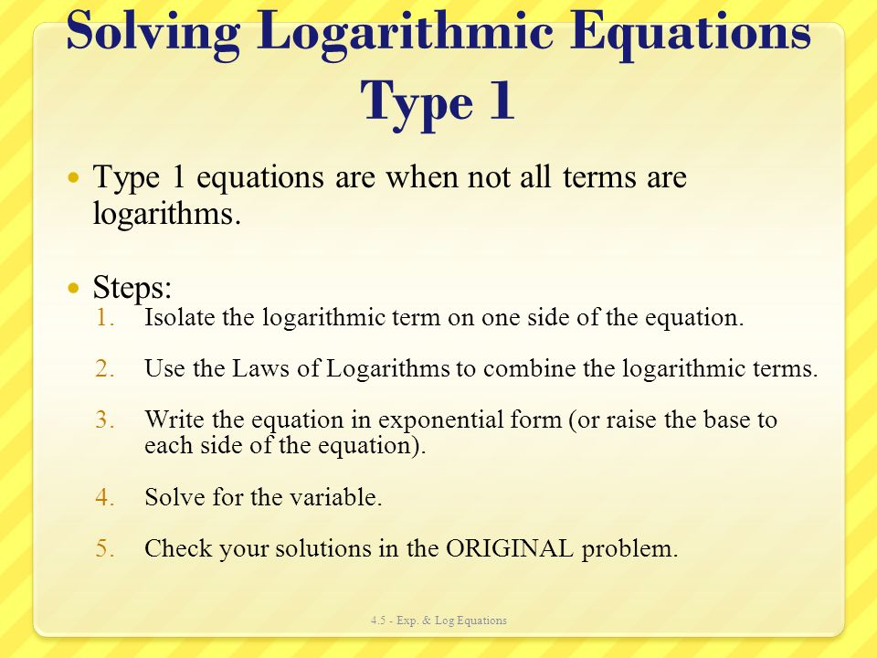 how to write logarithms
