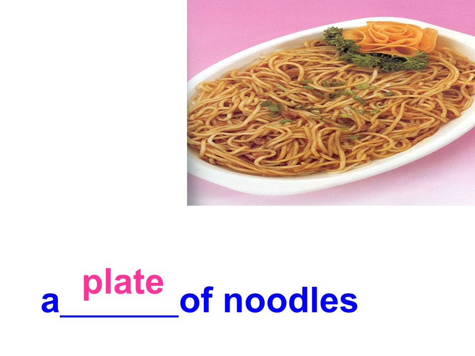plate a of noodles