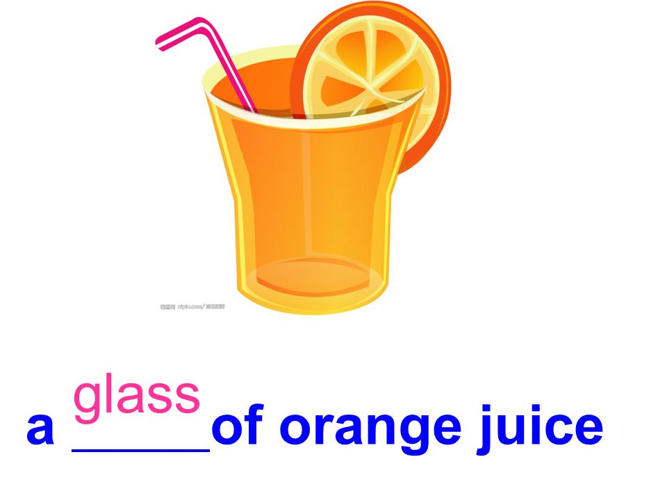 glass a of orange juice