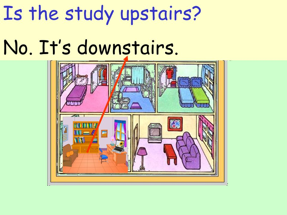 Is the study upstairs No. It's downstairs.