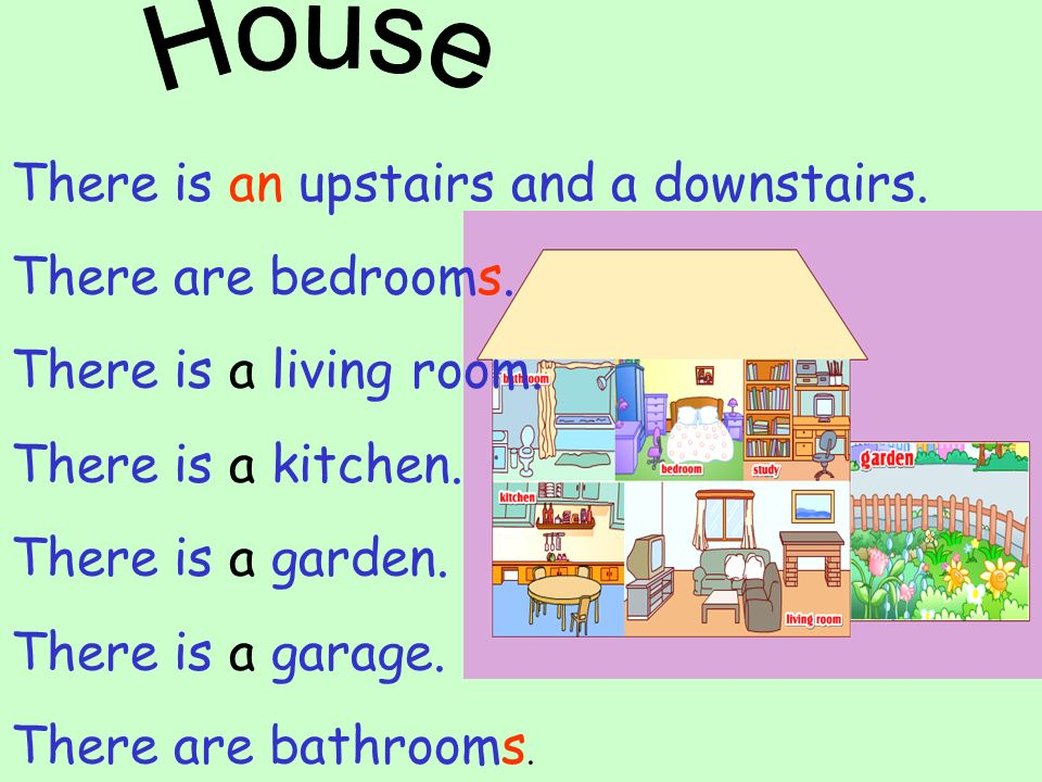 House There is an upstairs and a downstairs. There are bedrooms. There is a living room. There is a kitchen.