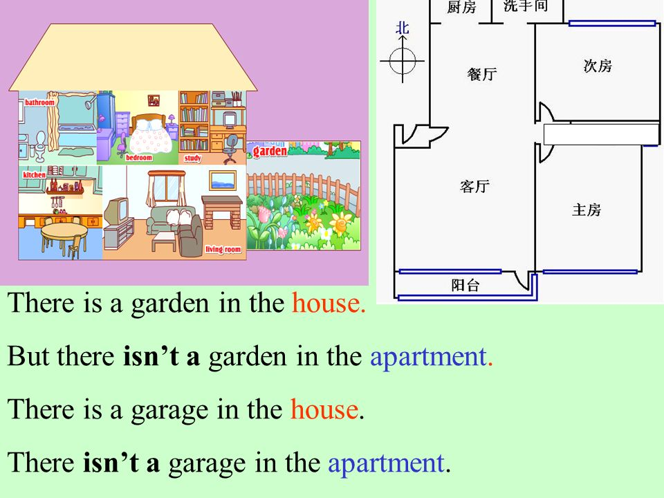 There is a garden in the house.