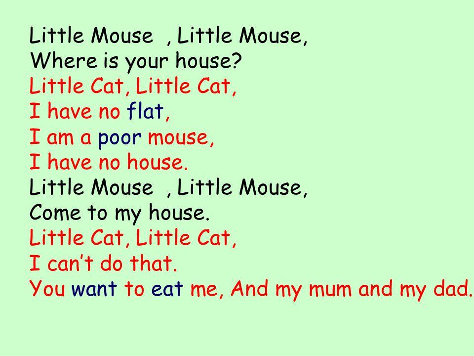 Little Mouse , Little Mouse,