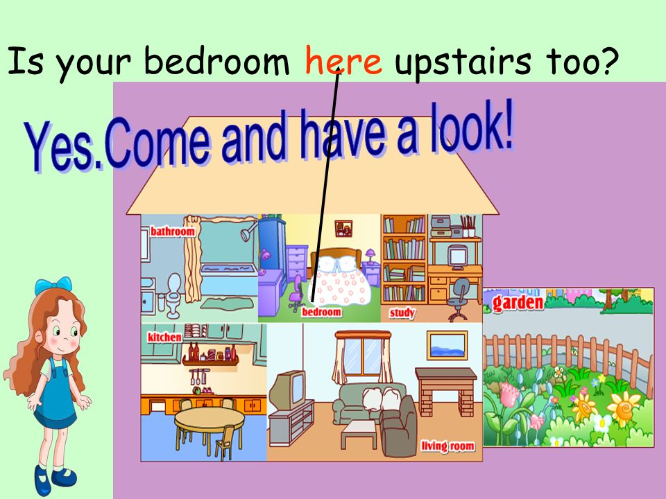 Is your bedroom here upstairs too