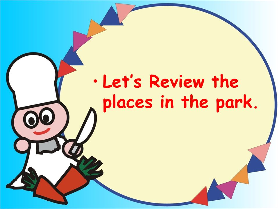 Let's Review the places in the park.