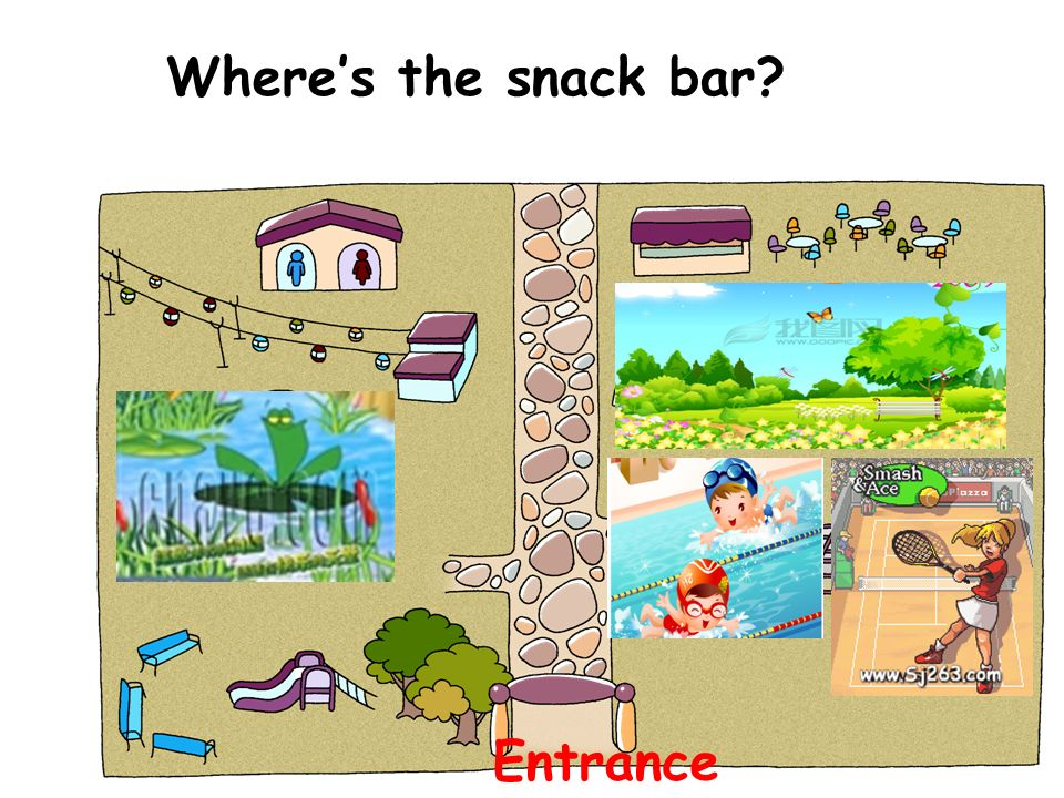Where's the snack bar Entrance
