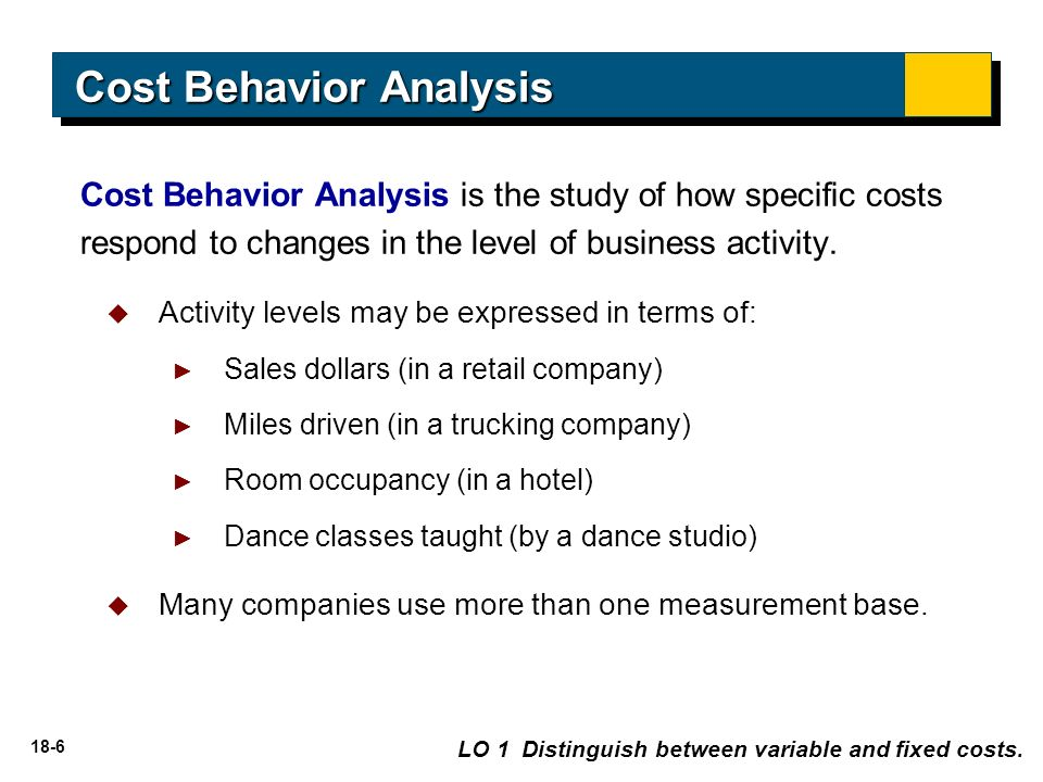 cost behavior These assessments will help you find out how much you know about cost behavior analysis the quiz is easily accessible and interactive while the.