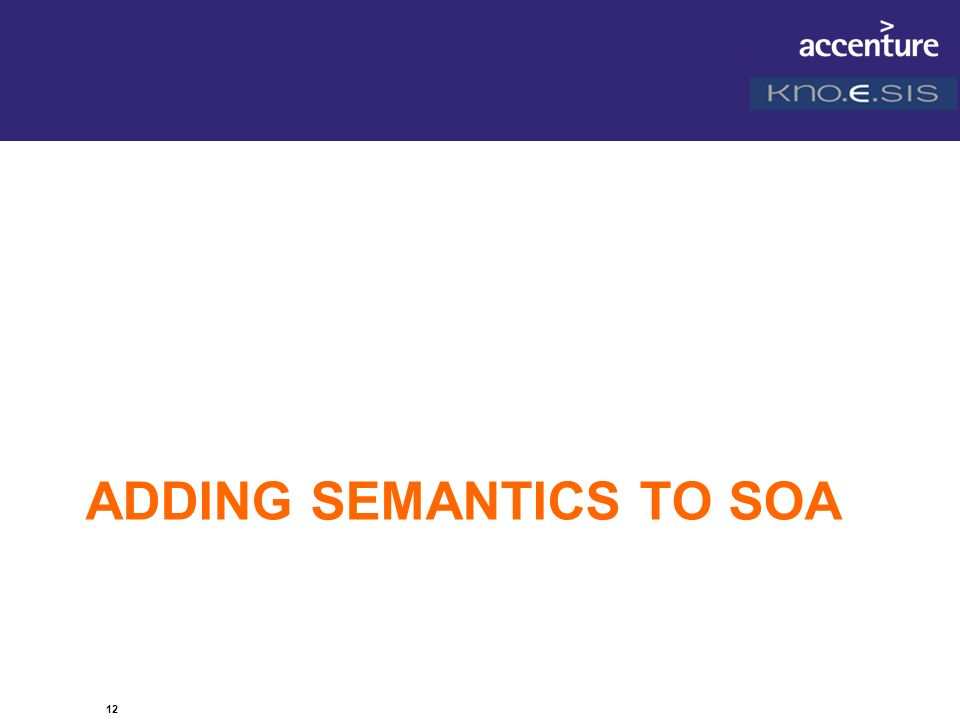 Adding Semantics to SOA