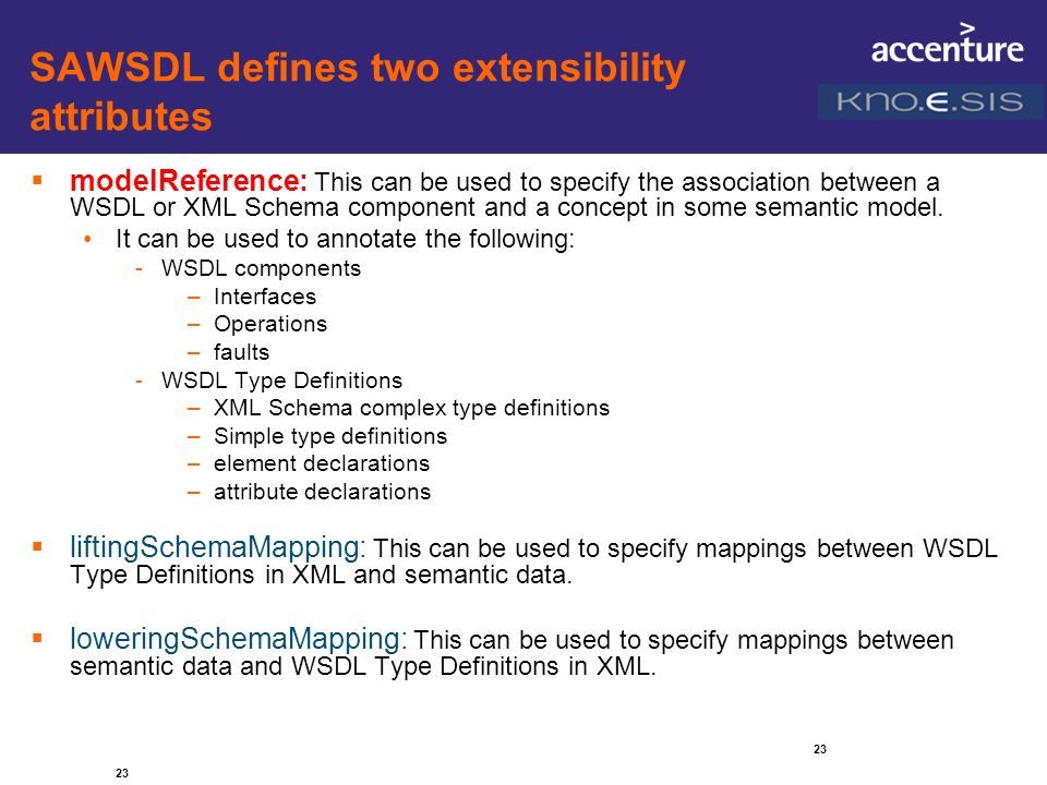 SAWSDL defines two extensibility attributes