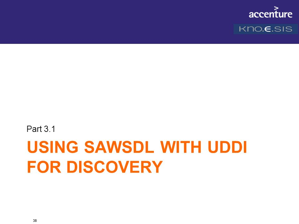 Using SAWSDL with UDDI for DISCOVERY