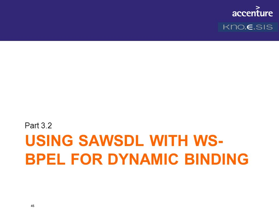 Using SAWSDL with WS-BPEL for DYNAMIC BINDING
