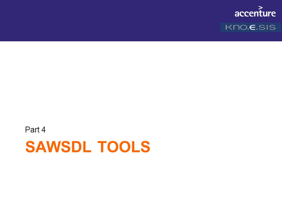 Part 4 SAWSDL Tools