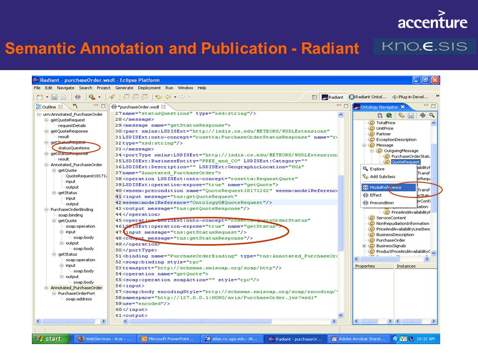 Semantic Annotation and Publication - Radiant