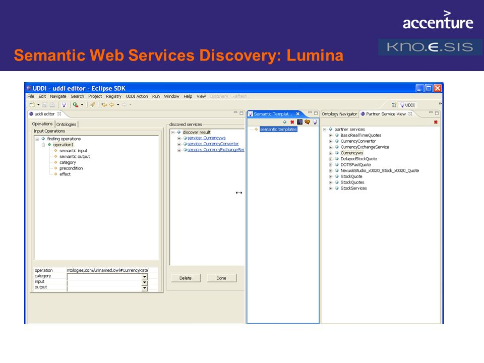 Semantic Web Services Discovery: Lumina