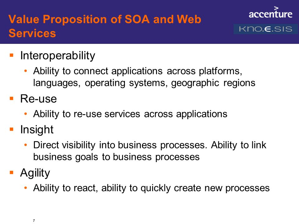 Value Proposition of SOA and Web Services