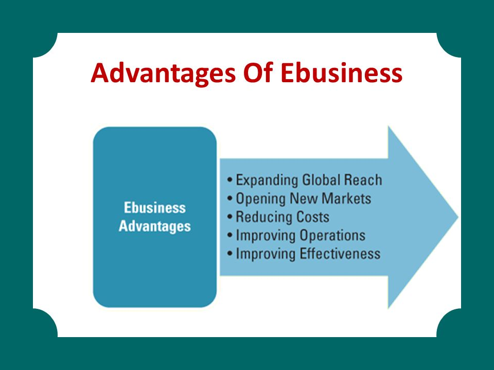 Advantages Of Ebusiness