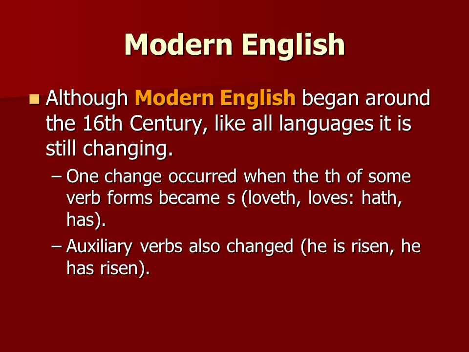 history and analysis of the english language The first inhabitants of the british isles were not english speakers at all the old english word rice--a noun meaning kingdom (cf ger reich), is almost certainly celtic in origin, but this word was probably adapted by germanic tribes on the continent long before the anglo-saxons settled in britain.