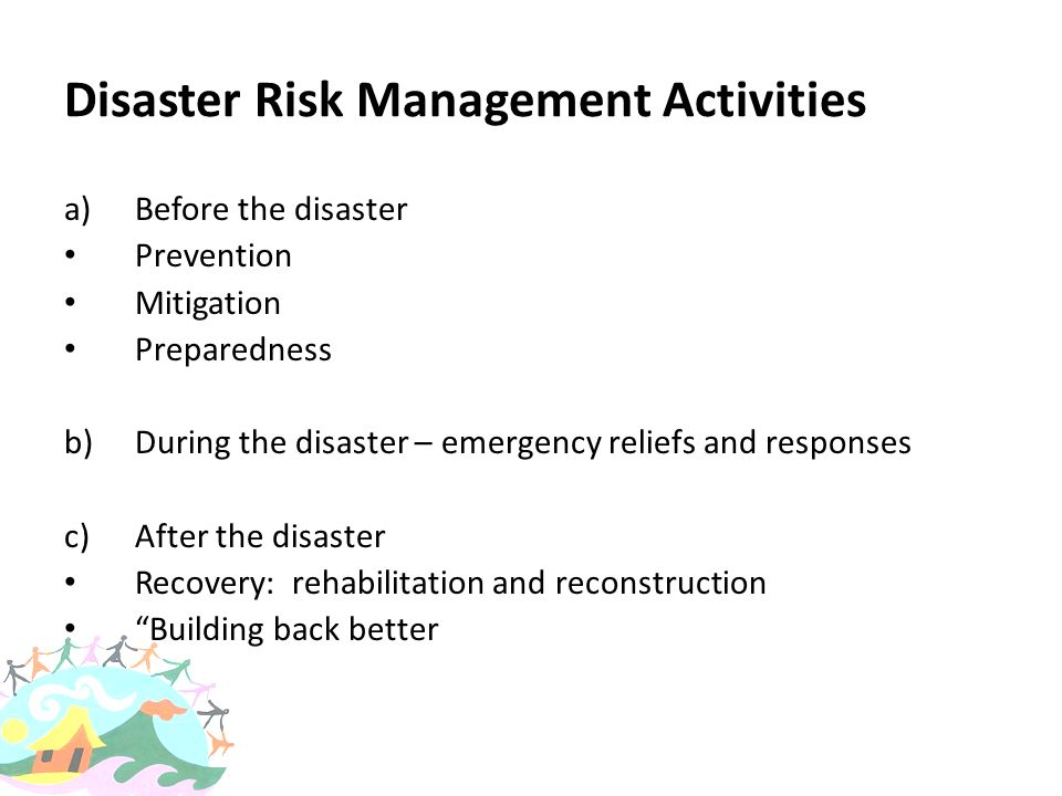 Disaster Risk Management Activities