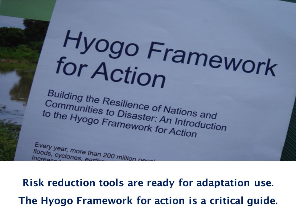 Basis of RA 10121 Risk reduction tools are ready for adaptation use.