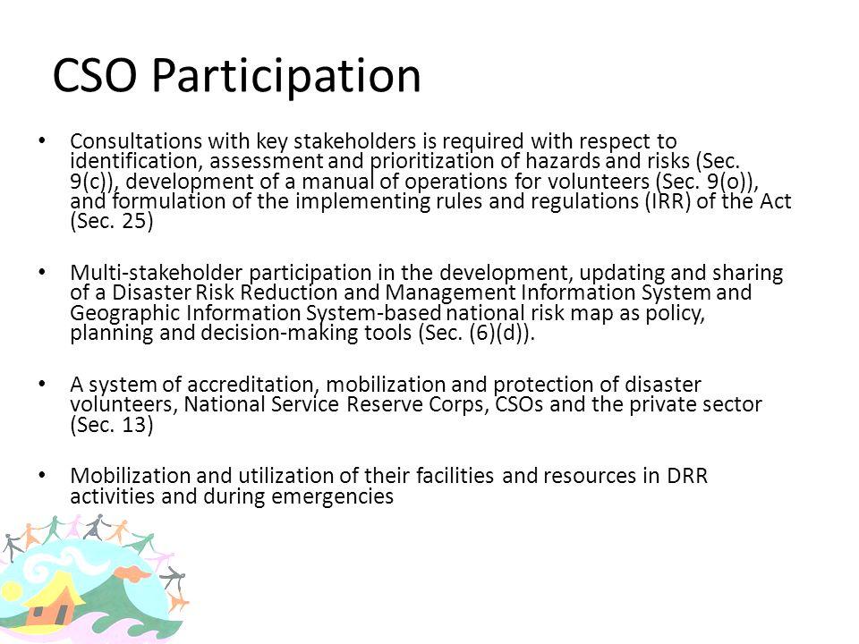 CSO Participation