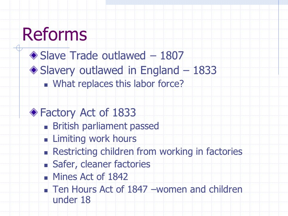 summarize britain factory act of 1833 mines act 1842 and ten hours act of 1847 The mormon settlements in arizona collection  1905visited the sugar factory  requests information on an act of congress forfeiting a portion of the.