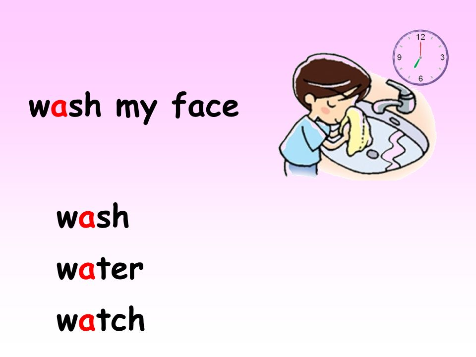 wash my face wash water watch