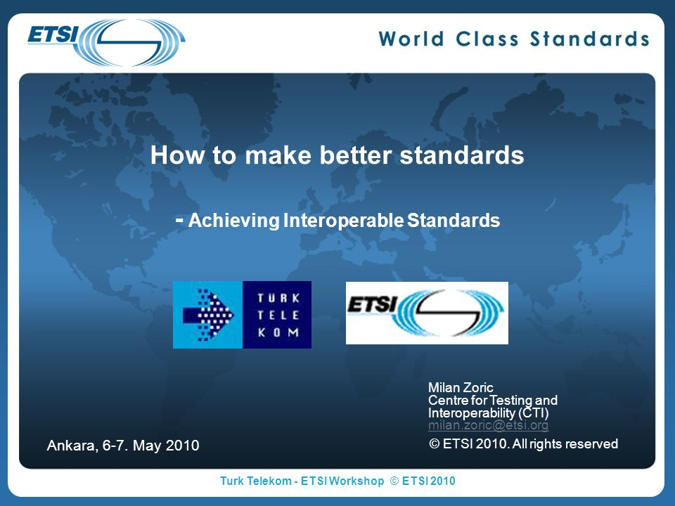 How to make better standards - Achieving Interoperable Standards