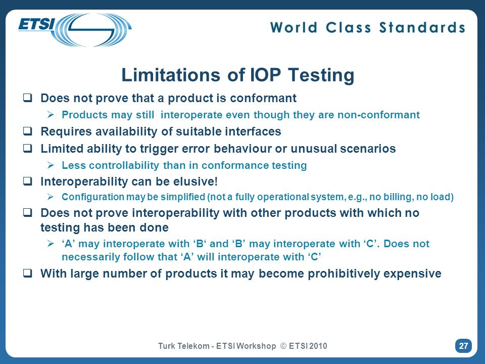 Limitations of IOP Testing