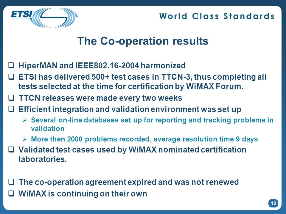 The Co-operation results