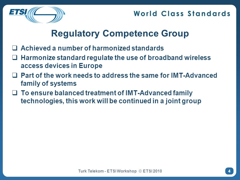 Regulatory Competence Group
