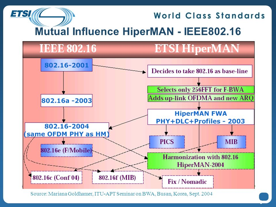 Mutual Influence HiperMAN - IEEE802.16