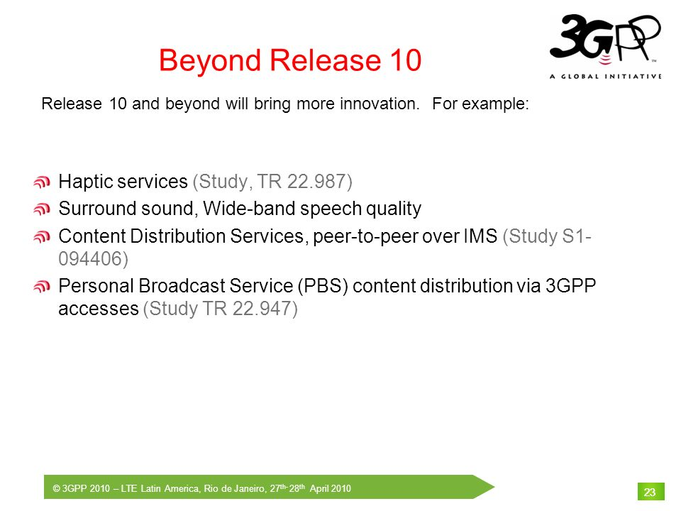 Beyond Release 10 Haptic services (Study, TR 22.987)
