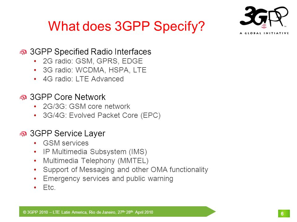 What does 3GPP Specify 3GPP Specified Radio Interfaces