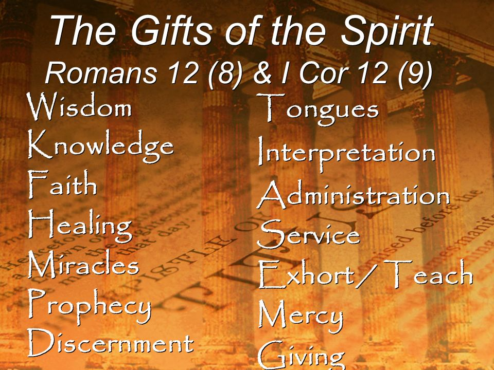 Spiritual Gifts Prophecy Discernment Gift Ftempo