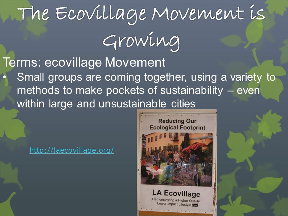 The Ecovillage Movement is Growing