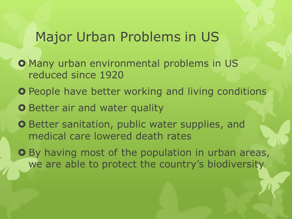 Major Urban Problems in US