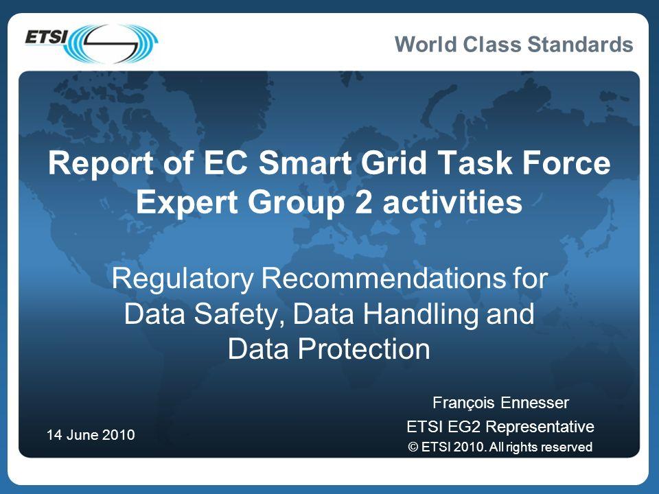 Report of EC Smart Grid Task Force Expert Group 2 activities