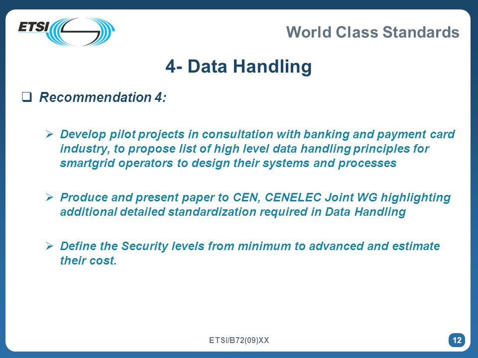 4- Data Handling Recommendation 4: