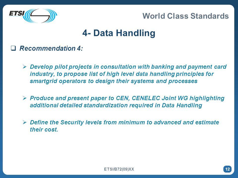 4- Data Handling Recommendation 4: