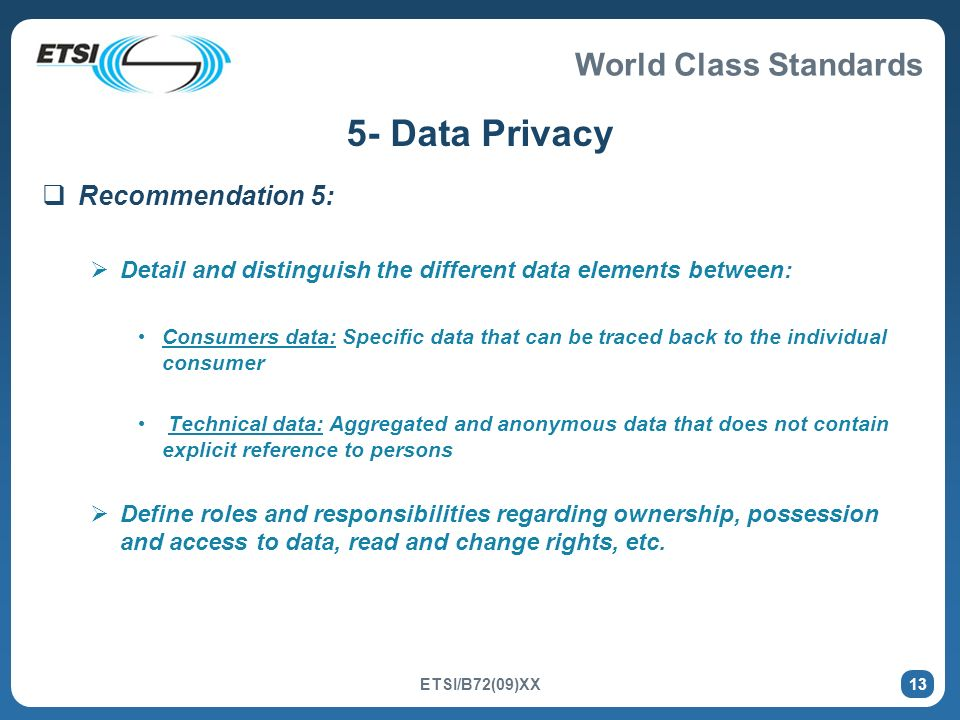 5- Data Privacy Recommendation 5: