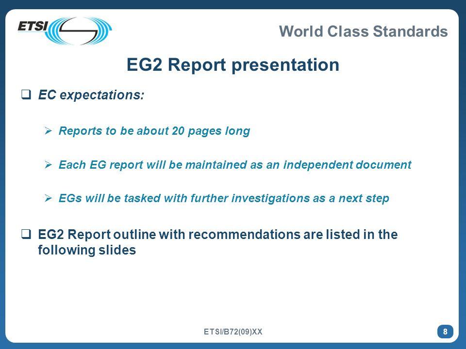 EG2 Report presentation