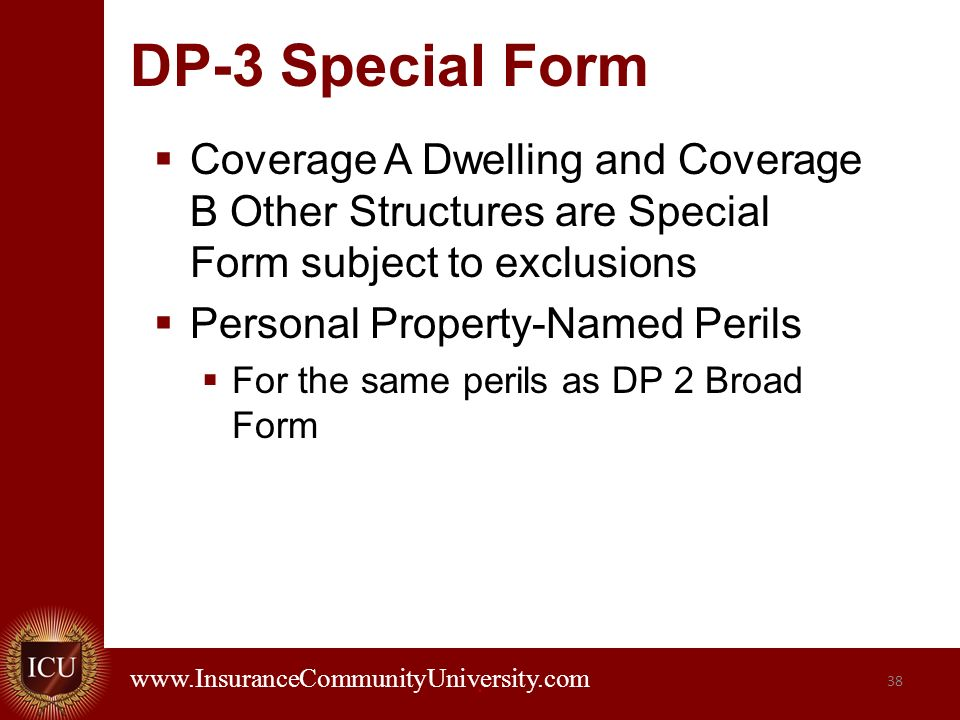 Residential Property Insurance Coverages - ppt download